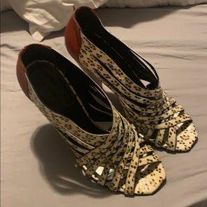 Balenciaga  animal print heels